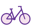 Icon depicting bicycle.