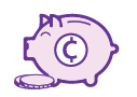 icon depicting piggy bank