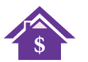 icon depicting home equity