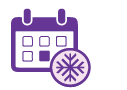 icon for Holiday Club Account depicting snowflake and calendar
